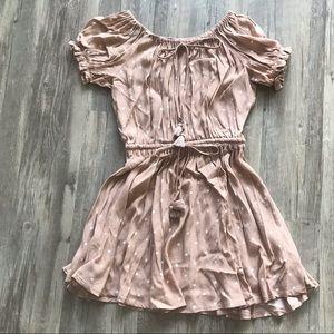 Off-the-Shoulder Polka Dot Mini Dress, size M